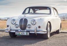 QUEENSTOWN, POŁUDNIOWA AFRYKA - 17 2017 Czerwiec: VintageJaguar MK2 samochód p Zdjęcie Stock