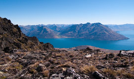 Queenstown and Remarkables range Stock Photo