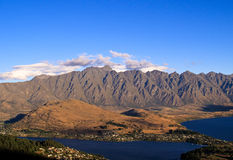Queenstown and Remarkables range Royalty Free Stock Photo