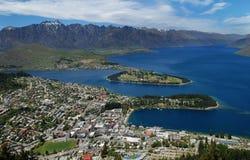 Queenstown, Si van Nieuw Zeeland Stock Foto's