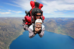 Queenstown Skydiving stock image