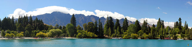 Queenstown skyline Royalty Free Stock Photography