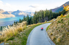 Queenstown-Skyline, Neuseeland Stockbilder
