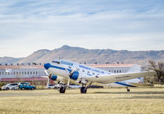 QUEENSTOWN, SOUTH AFRICA - 17 June 2017: Vintage Douglas DC 3 Da Royalty Free Stock Images