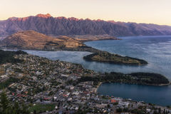 Queenstown sunset Royalty Free Stock Image