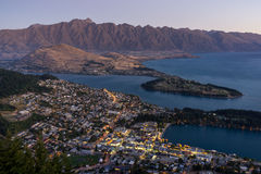 Queenstown sunset Royalty Free Stock Photography