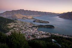 Queenstown sunset Royalty Free Stock Photos