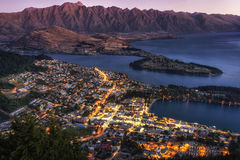 Queenstown sunset Stock Image
