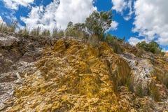 Queenstown Tasmânia: minerais tipical das rochas Imagem de Stock