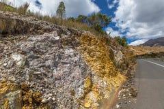 Queenstown Tasmânia: minerais tipical das rochas Fotos de Stock Royalty Free