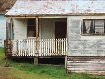 Queenstown Tasmania. Old run down weatherboard houses in the mining town of Queenstown on the west coast of Tasmania royalty free stock images