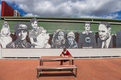 Queenstown Tasmania: Mosaic Sculpture Royalty Free Stock Photos