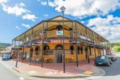 Queenstown Tasmania: Old Hotel Stock Photos