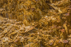 Queenstown Tasmania: pietre dorate Fotografia Stock