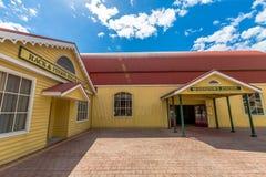 Queenstown Tasmania: Stazione ferroviaria Immagine Stock