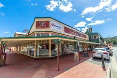 Queenstown Tasmanien: Allmänt lager Arkivbilder