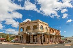 Queenstown Tasmanien: Väldehotell royaltyfri bild