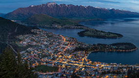 Queenstown at twilight Royalty Free Stock Photos