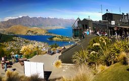 Queenstown, Wakatipu Lake, Gondola Summit view, New Zealand Stock Photos