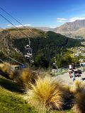 Queenstown, Wakatipu Lake, Gondola Summit view, New Zealand Royalty Free Stock Images