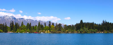 Queenstown Zealand nowy jezioro Fotografia Stock