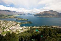 Queentown Новая Зеландия стоковое изображение rf