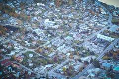 Queentown com opinião da cidade/lugares do paraíso em Nova Zelândia/lago Teanua Fotografia de Stock