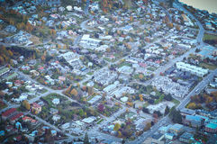 Queentown con la opinión de la ciudad/los lugares del paraíso en Nueva Zelanda/el lago Teanua Fotografía de archivo