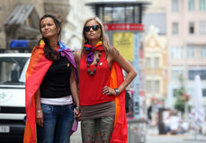 Queer Parade in Brno Stock Photos
