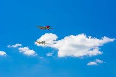 Quegli vecchi aerei dell'elica Fotografia Stock Libera da Diritti