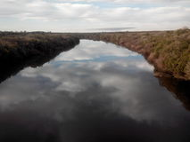 Queguay rzeka - Urugwaj obrazy stock