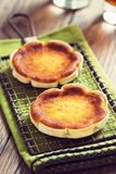 Queijadinhas, or Portuguese Cheese Cakes, on a Cooling Rack Royalty Free Stock Image