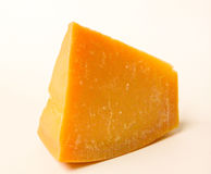 Queijo Alimento saudável Queijo duro Isolado no branco Fotos de Stock