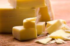 Queijo amarelo Foto de Stock