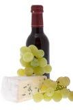 Queijo azul com uvas Imagens de Stock