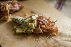 Queijo azul do whit do bacon Fotografia de Stock