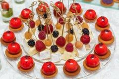 Queijo Bree Dessert imagens de stock