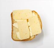Queijo brindado do sanduíche Fotografia de Stock
