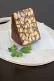 Queijo Cheddar irlandês do vintage com porteiro Fotografia de Stock Royalty Free