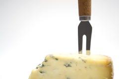 Queijo com forquilha do queijo Imagens de Stock Royalty Free
