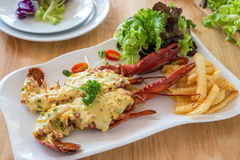 Queijo cozido da lagosta Imagens de Stock Royalty Free