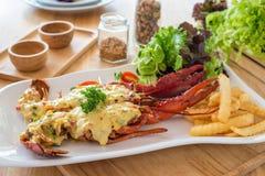 Queijo cozido da lagosta Foto de Stock Royalty Free