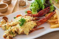 Queijo cozido da lagosta Imagem de Stock