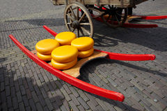 Queijo da cidade Alkmaar fotografia de stock royalty free