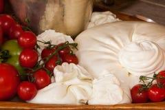 Queijo de Burrata imagem de stock royalty free