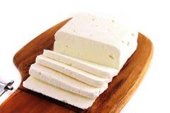 Queijo de cabra macio branco Imagens de Stock Royalty Free