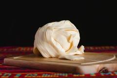 Queijo de Oaxaca, quesillo, alimento do quesadilla de México imagem de stock royalty free