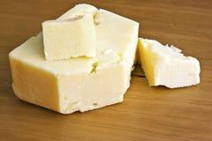 Queijo de queijo Cheddar branco Foto de Stock