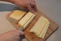 Queijo do corte - ingredientes de alimento Foto de Stock Royalty Free