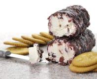 Queijo e biscoitos Imagem de Stock Royalty Free